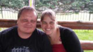 Crime victim Jacques Oosthuizen and his wife, Samantha.