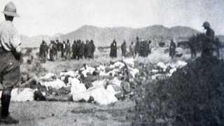 Israelite dead before their burial in one of the three mass graves. pic Because they chose the plan of God/flatcopy