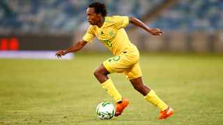 FILE - Percy Tau during the Afcon qualifier between South Africa and Sao Tome and Pr'ncipe. Photo: Steve Haag Sports/Backpagepix