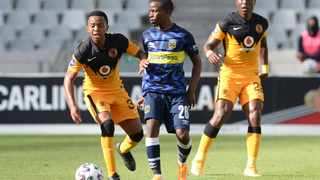 Cape Town City's Thabo Nodada and Nkosingiphile Ngcobo of Kaizer Chiefs fight for the ball during the DStv Premiership match. Picture: Ryan Wilkisky/BackpagePix