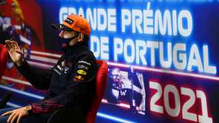 Red Bull's Max Verstappen during the press conference ahead of the Portuguese Grand Prix. Photo: Gabriel Bouys/Reuters