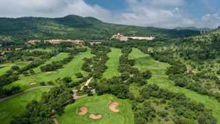 Aerial view of the Gary Player Golf Course with Sun City Resort in the background. Picture: Mitchell Krog/Living Canvas Photography via Sunshine Tour