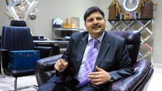 Atul Gupta speaks about his niece's Sun City wedding during an interview at his home office. Public anger towards the Guptas soared in 2013 when a jet carrying foreign guests for a wedding landed at Waterkloof Air Force base, outside Pretoria. File picture: Paballo Thekiso