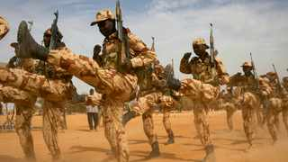 Chadian soldiers march during Flintlock 2014, a US-led international training mission for African militaries in Diffa, Niger. File picture: Joe Penney/Reuters