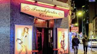 The red light district in Frankfurt, Germany, has also seen a downturn in men seeking the services of sex workers.   Picture by Michael Probst AP