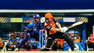 Quinton de Kock and Jonny Bairstow went head-to-thead in the IPL on Saturday for Mumbai Indians and the Sunrisers Hyderabad respectively. Picture: @mipaltan via Twitter