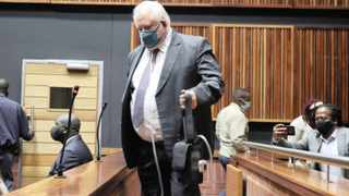 Angelo Agrizzi appears at the Commercial crimes court sitting at Palm Ridge. Picture:Timothy Bernard/African News Agency(ANA)