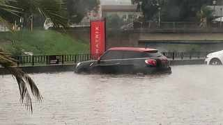 Parts of Gauteng were flooded by heavy rains on Friday. Picture: @crimeairnetwork
