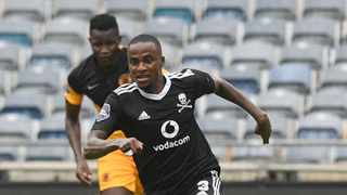 Thembinkosi Lorch of Orlando Pirates during the DStv Premiership 2020/21 match between Orlando Pirates and Kaizer Chiefs on the 30 January 2020 at Orlando Stadium, Soweto Pic Sydney Mahlangu/BackpagePix