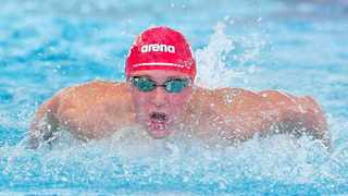 Pieter Coetze during day Five of the 2021 SA National Aquatic Championships at Newton Park Swimming Pool in Gqeberha on Sunday. Photo: Deryck Foster/BackpagePix