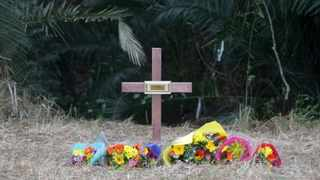 A cross at the scene near Mthwalume, KwaZulu-Natal, where at least six women's bodies were found earlier this years. Picture: Bongani Mbatha/African News Agency (ANA)