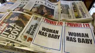Satirical magazine Private Eye after the birth of Britain's new prince. Picture: Reuters