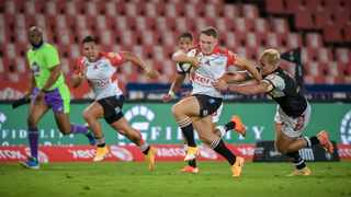 Golden Lions star Tiaan Swanepoel scored a brace of tries against the Pumas and slotted over four penalties. Picture: Christiaan Kotze/BackpagePix