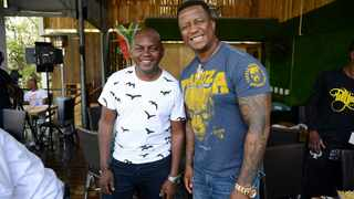House DJ's: Dj Euphonik and Dj Fresh at a meet and greet event. Picture:Dumisani Dube