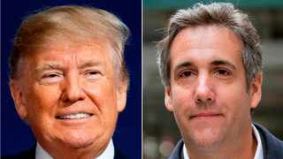President Donald Trump and attorney Michael Cohen. Picture: AP/African News Agency (ANA) Archives