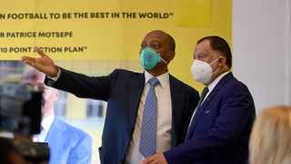 Patrice Motsepe and has the backing of Safa president Danny Jordaan for the Caf presidency. Picture: Sydney Mahlangu/BackpagePix