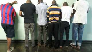Some of the suspects arrested in the Joburg CBD. Picture: SAPS