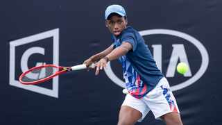 Khololwam Montsi, 17, defeated French wildcard Axel Garcian, 18, in their first-round French Open Juniors clash. Picture: Barco Greef/Tennis SA