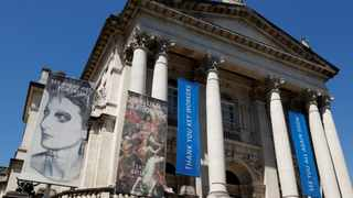 Banners thanking key workers are seen on the Tate Britain art museum in London. Picture: John Sibley/Reuters