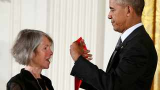 US President Barack Obama awards the 2015 National Humanities Medal to poet Louise Gluck at the White House in Washington in 2016. File picture: Gary Cameron/Reuters