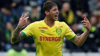 Emiliano Sala in action in the colours of Nantes in 2017. Photo: Stephane Mahe/Reuters