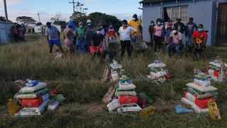 With the imposition of the national lockdown to prevent the deadly coronavirus, a group of young people from Wesley location near Ngqushwa in the Eastern Cape, have rallied to donate food parcels to the needy. Picture: Supplied