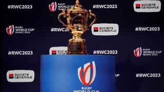 File Photo: The Webb Ellis trophy is pictured during the draw REUTERS/Gonzalo Fuentes/File Photo