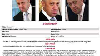 The FBI last month offered a $250 000 (R3.7 million) reward for Yevgeny Prigozhin, who was indicted by the United States three years ago for meddling in its 2016 presidential vote.