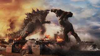 Godzilla battles Kong in 'Godzilla vs. Kong', the latest MonsterVerse film. Picture: Warner Bros. Pictures and Legendary Pictures