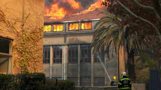 The University of Cape Town has announced that it has put emergency measures in place after the Rhodes Memorial fire reached the university and caused extensive damage to campus property. Picture: Tracey Adams/African News Agency (ANA)