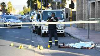 Chaos erupted when three people were killed and one injured in a taxi shooting in Bellville on Tuesday. Picture: Leon Knipe/African News Agency (ANA)