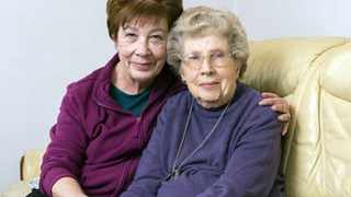 South Coast woman, Myrtle Cothill pictured right, has been allowed to stay with her daughter in the UK. Picture: Supplied