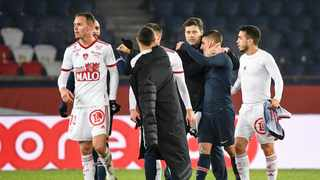 Mauricio Pochettino claimed his first win with Paris St Germain as the French champions edged closer to the top of the Ligue 1 table by beating Stade Brestois 3-0 at home on Saturday. Photo: AFP