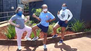 Anna Stock, Adrianna Lawrence and Andiswa KhanyilePicture: Supplied
