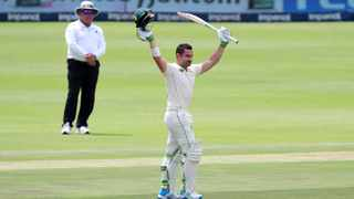 Dean Elgar reached his 13th Test century for the Proteas. Picture: Muzi Ntombela/BackpagePix