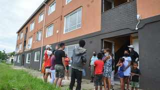 A GROUP of residents from renovated flats in Croton Road refuse to move in until defects are fixed. Picture: Motshwari Mofokeng /African News Agency (ANA)
