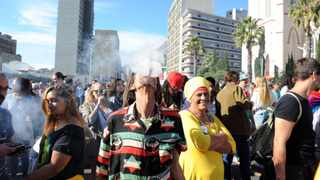 Thousands of South Africans take to the streets of Cape Town to demand a relaxation of drugs laws to allow the medicinal and recreational use of cannabis in May 2018. Picture: Ayanda Ndamane/African News Agency (ANA) Archives