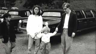 From left, Moses Farrow, Soon-Yi Previn, Dylan Farrow and Woody Allen appear in a family photograph. Picture: HBO