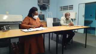 MEC Simelane-Zulu with HoD Dr Sandile Tshabalala during a fact-finding visit to Northdale on Tuesday. Picture: Supplied