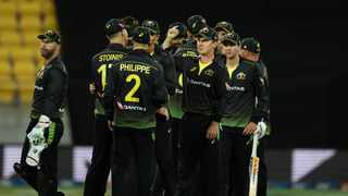 Australia crushed New Zealand by 50 runs in a low-scoring fourth T20 international in Wellington to level the series at 2-2. Photo: Marty Melville/AFP
