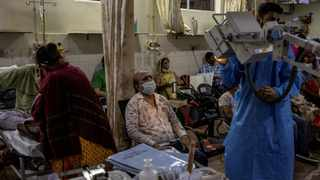 Patients suffering from the coronavirus disease receive treatment inside the emergency ward at Holy Family hospital in New Delhi, India. Picture: REUTERS/Danish Siddiqui