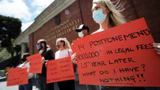 GBV survivor, Anna Lovisa Terling, joined a group of women who protested outside the Cape Town Magistrate's Court over delays in cases of domestic violence and sexual assault cases. Picture: Armand Hough/African News Agency (ANA)