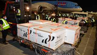 The first batch of J&J vaccines arrived earlier this month at the OR Tambo International Airport. Picture: GCIS