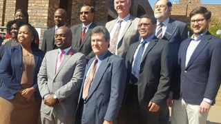 Mayor Solly Msimang with some of the members of Tshwane's mayoral committee. Picture: Jonisayi Maromo