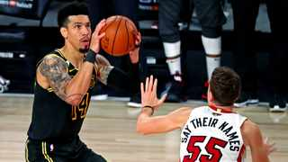 Los Angeles Lakers guard Danny Green missed the game-winning shot against the Miami Heat. Picture: Kim Klement/USA TODAY Sports via Reuters