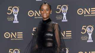 Letitia Wright poses in the press room at the 50th annual NAACP Image Awards on Saturday, March 30, 2019, at the Dolby Theatre in Los Angeles. Picture: Richard Shotwell/Invision/AP