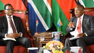 President Cyril Ramaphosa hosts Dr Lazarus McCarthy Chakwera, President of the Republic of Malawi, who is on a working visit to South Africa. Picture: Jairus Mmutle/GCIS
