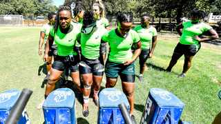 The Springbok Women's team practice their scrumming during a training camp. Picture: @WomensBoks via Twitter