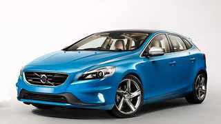 Sporty V40 R Design has aggressive front treatment.
