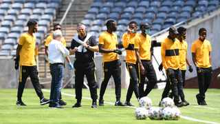 Kaizer Chiefs' transfer ban means that Gavin Hunt will be stuck with an inherited squad for a season. Picture: Sydney Mahlangu/BackpagePix